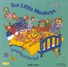 Ten Little Monkeys Jumping on the Bed, Board book Book