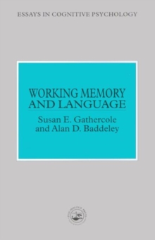 Working Memory and Language, Paperback Book