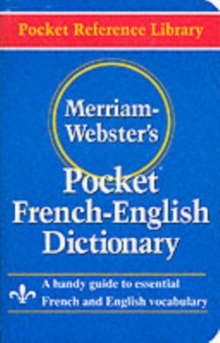 Merriam Webster Pocket French-English Dictionary, Paperback Book