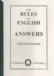 The Rules of English : Answers, Paperback Book