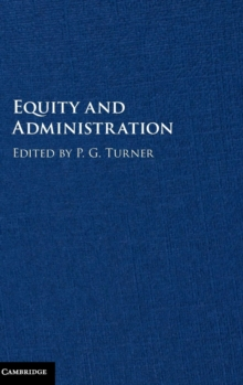 Equity and Administration, Hardback Book