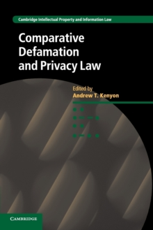 Comparative Defamation and Privacy Law, Paperback / softback Book