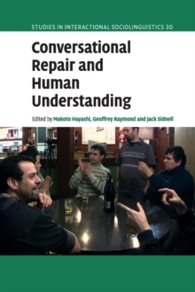 Conversational Repair and Human Understanding, Paperback / softback Book