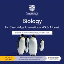 Cambridge International AS & A Level Biology Digital Teacher's Resource Access Card, Digital product license key Book