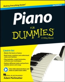 Piano For Dummies : Book + Online Video & Audio Instruction, Paperback Book