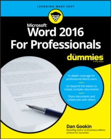 Word 2016 for Professionals For Dummies, Paperback Book