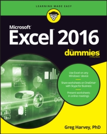 Excel 2016 For Dummies, Paperback Book