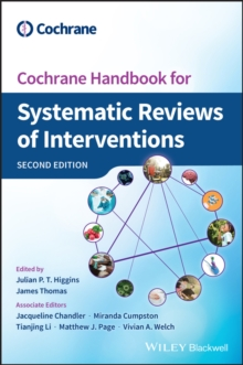 Cochrane Handbook for Systematic Reviews of Interventions, Hardback Book