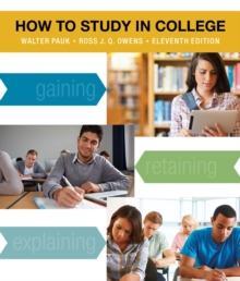 How to Study in College, Paperback Book