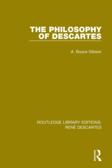 The Philosophy of Descartes, Paperback / softback Book