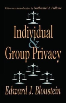 Individual and Group Privacy, Hardback Book