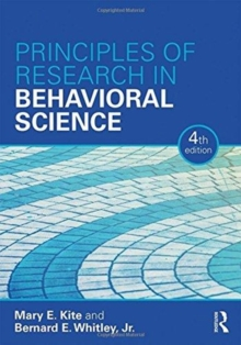 Principles of Research in Behavioral Science : Fourth Edition, Hardback Book