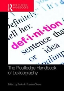 The Routledge Handbook of Lexicography, Hardback Book