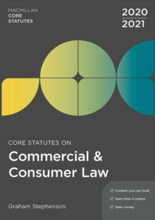 Core Statutes on Commercial & Consumer Law 2020-21