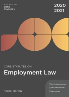 Core Statutes on Employment Law 2020-21