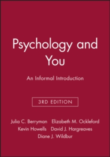 Psychology and You : An Informal Introduction, Paperback Book