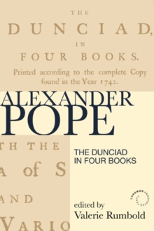 The Dunciad in Four Books, Paperback / softback Book