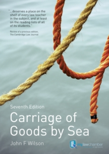 Carriage of Goods by Sea, Paperback Book