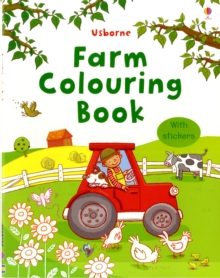 Farm Colouring Book with Stickers, Paperback Book