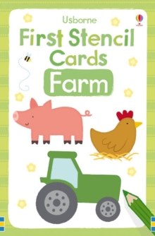 First Stencil Cards: Farm, Novelty book Book