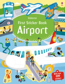 First Sticker Book Airports, Paperback Book
