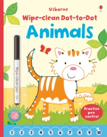 Wipe Clean Dot-to-Dot Animals, Paperback Book