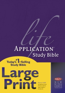 NKJV Life Application Study Bible Large Print, Hardback Book