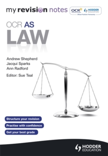 My Revision Notes: OCR AS Law, Paperback Book