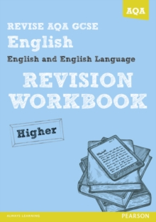 Revise AQA: GCSE English and English Language Revision Workbook Higher, Paperback Book