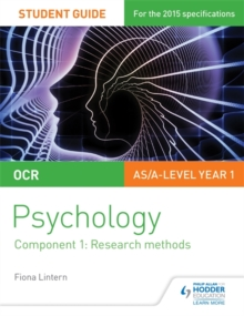 OCR Psychology Student Guide 1: Component 1: Research methods, Paperback / softback Book
