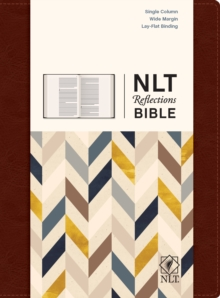 NLT Reflections Bible (Hardcover LeatherLike, Mahogany Brown), Hardback Book