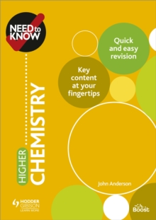 Need to Know: Higher Chemistry, Paperback / softback Book