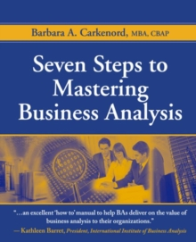 Seven Steps to Mastering Business Analysis, Paperback Book