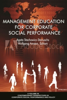 Management Education for Corporate Social Performance, Hardback Book