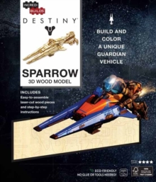 IncrediBuilds: Destiny: Sparrow 3D Wood Model, Kit Book
