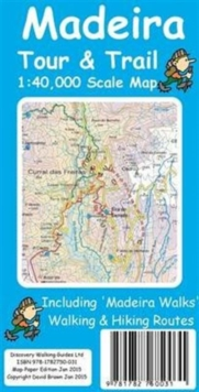 Madeira Tour & Trail Map, Sheet map, folded Book