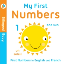 Bilingual Baby English-French First Numbers, Board book Book