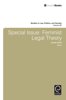 Special Issue : Feminist Legal Theory, Hardback Book