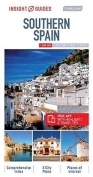 Insight Guides Travel Map Southern Spain, Sheet map Book