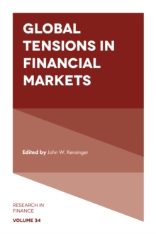 Global Tensions in Financial Markets, Hardback Book