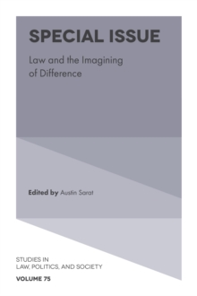 Special Issue : Law and the Imagining of Difference, Hardback Book