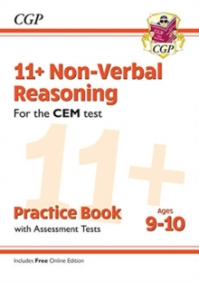 11+ CEM Non-Verbal Reasoning Practice Book & Assessment Tests - Ages 9-10 (with Online Edition)