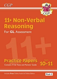 11+ GL Non-Verbal Reasoning Practice Papers: Ages 10-11 Pack 2 (inc Parents' Guide & Online Ed), Paperback / softback Book