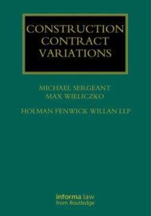 Construction Contract Variations, Hardback Book