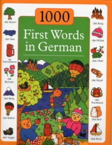 1000 First Words in German, Hardback Book