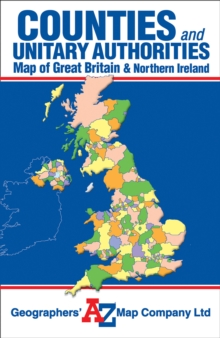 Great Britain Counties and Unitary Authorities Map, Sheet map, folded Book