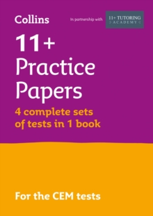 11+ Verbal Reasoning, Non-Verbal Reasoning & Maths Practice Papers (Bumper Book with 4 sets of tests) : For the 2021 Cem Tests