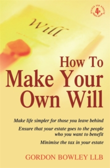 How To Make Your Own Will, 4th Ed, Paperback Book