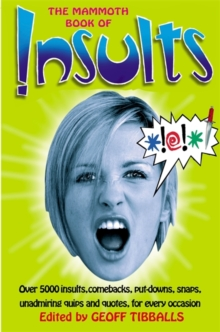The Mammoth Book of Insults, Paperback Book