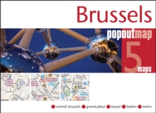 Brussels PopOut Map, Sheet map, folded Book